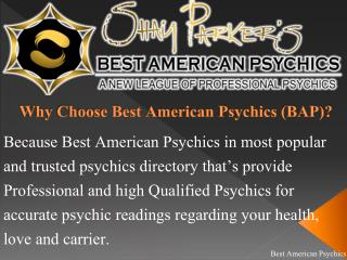 Online Best Psychics : Best American Psychics