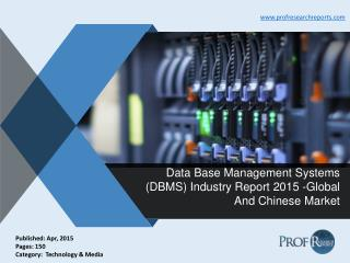 Data Base Management Systems (DBMS) Industry Size, Share, Market Growth, Report 2015