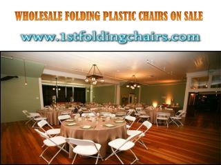 WHOLESALE FOLDING PLASTIC CHAIRS ON SALE