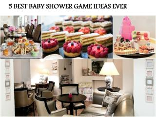 5 BEST BABY SHOWER GAME IDEAS EVER