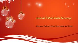 Recovery Deleted Files from Android Tablet