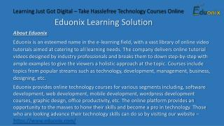 Learn Technology Courses Online