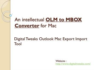 Intellectual OLM to MBOX Converter