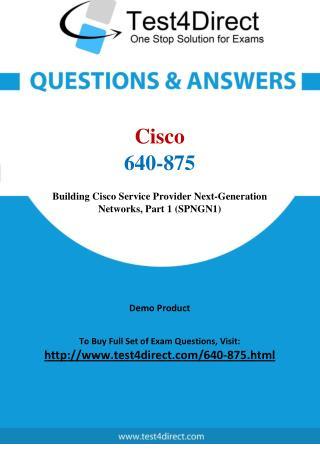 Cisco 640-875 CCNA Real Exam Questions