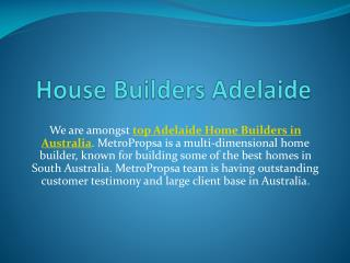 Best House Builders in Adelaide