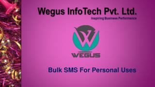 bulk sms for personal uses