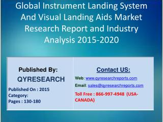 Global Instrument Landing System And Visual Landing Aids Market 2015 Industry Growth, Trends, Development, Research and