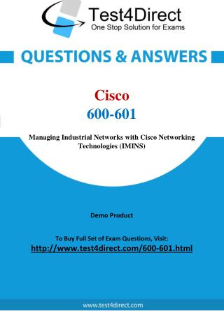 Cisco 600-601 Test Questions