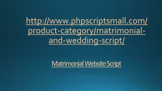 Indian Matrimonial Script
