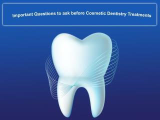 Cosmetic Dentistry Treatement
