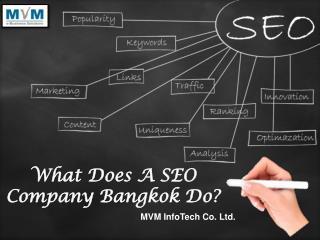 What Does A SEO Company Bangkok Do?