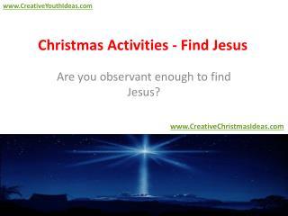 Christmas Activities - Find Jesus