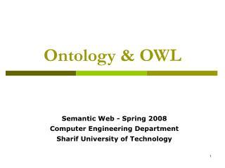 Ontology  OWL