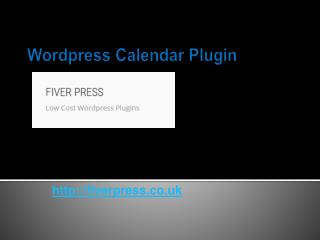 Wordpress Calendar Plugin - Fiverpress.co.uk