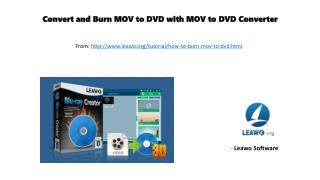 Convert and burn mov to dvd with mov to dvd converter