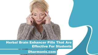 Herbal Brain Enhancer Pills That Are Effective For Students
