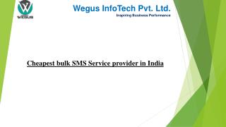 Cheapest bulk sms provider in india