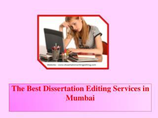 The Best Dissertation Editing Services in Mumbai