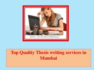 Dissertation writing services mumbai