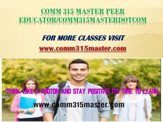 COMM 315 Master Peer Educator/comm315masterdotcom