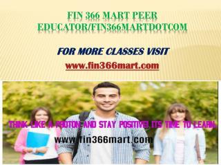 FIN 366 Mart Peer Educator/fin366martdotcom