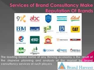Services of Brand Consultancy Make Reputation Of Brands