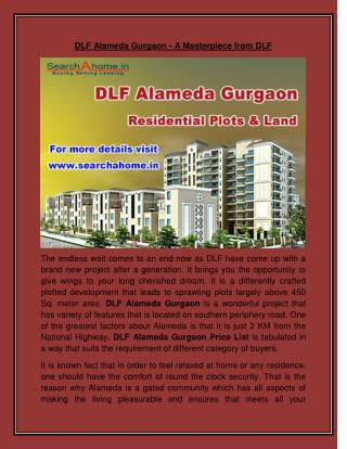 DLF Alameda Gurgaon - A Masterpiece from DLF