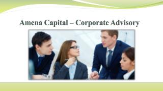 Amena Capital – Corporate Advisory