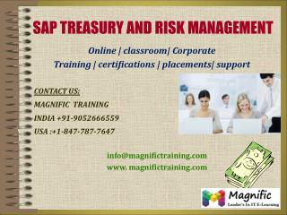 SAP TRM ONLINE TRAINING IN CANADA,AUSTRALIA,SOUTH AFRICA