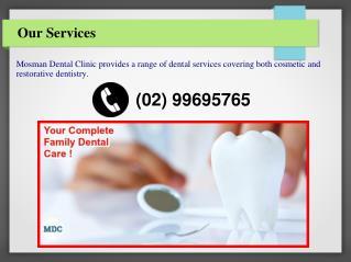 Cosmetic Restoration Dentist Mosman