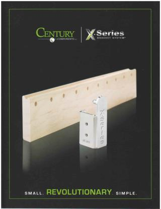 Century X-Series Bracket System for Cabinets