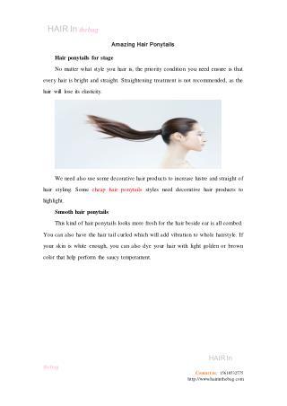 Amazing Hair Ponytails