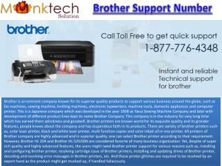 Call for Brother Support Number 1-877-776-4348