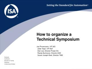 How to organize a Technical Symposium