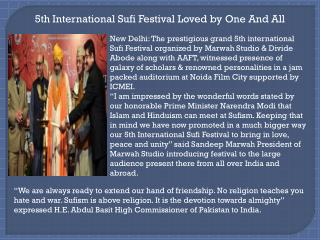 5th International Sufi Festival Loved by One And All