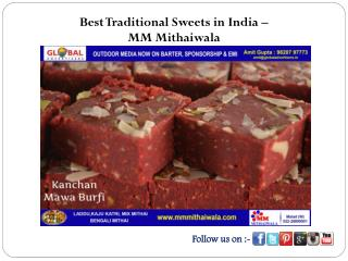 Best Traditional Sweets in India - MM Mithaiwala