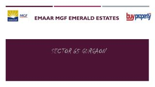 Emaar MGF Emerald Estates Offers 2/3 BHK Residential Property