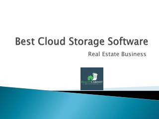 Best Cloud File Storage - Real estate Business