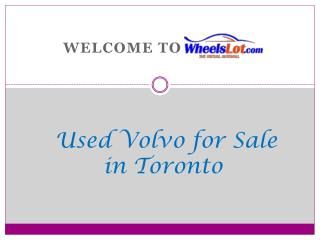 Used Volvo for Sale in Toronto