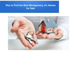 Tips to Find Montgomery, AL Homes For Sale