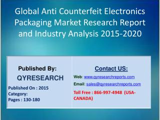 Global Anti Counterfeit Electronics Packaging Market 2015 Industry Development, Forecasts,Research, Analysis,Growth, Ins