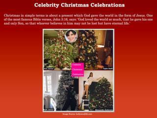 Celebrity Christmas Celebrations