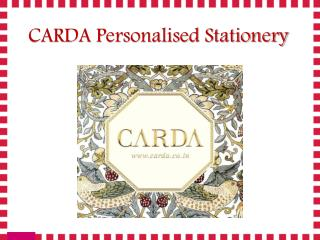 CARDA Personalised Stationery