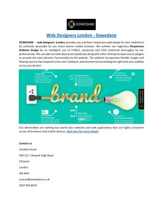 Web Designers London - Sowedane
