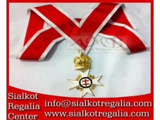 Masonic Knights Templar Preceptor & Past Preceptor Collarette