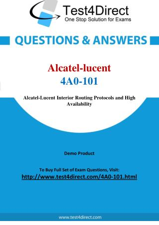 Alcatel lucent 4A0-101 Test - Updated Demo
