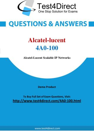 4A0-100 Alcatel lucent Exam - Updated Questions