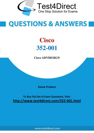 Cisco 352-001 Exam Questions