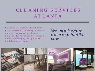 Cleaning Services Atlanta (404) 857-3389