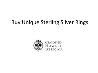 Buy Unique Sterling Silver Rings